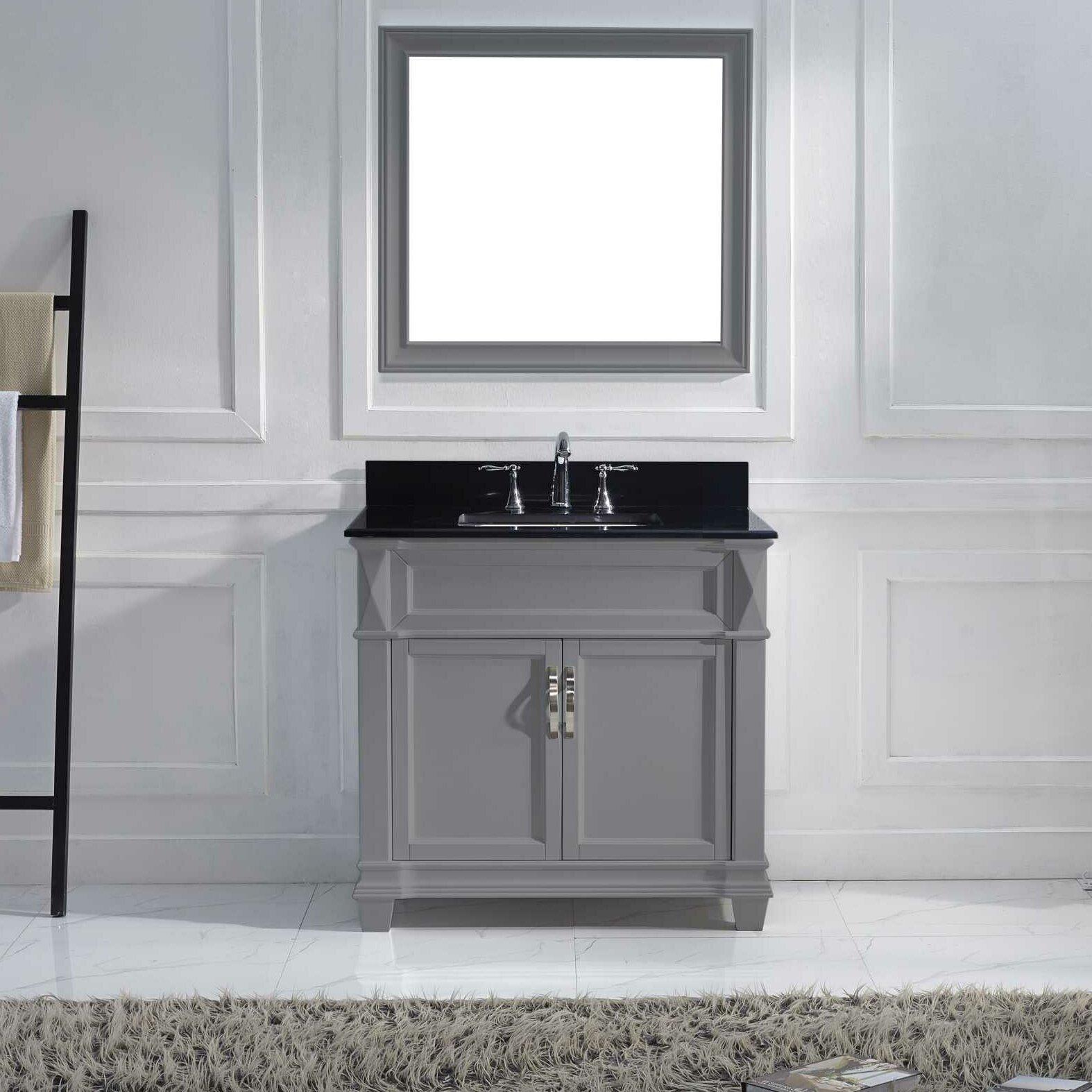 victoria 36 single bathroom vanity set with black galaxy top by virtu
