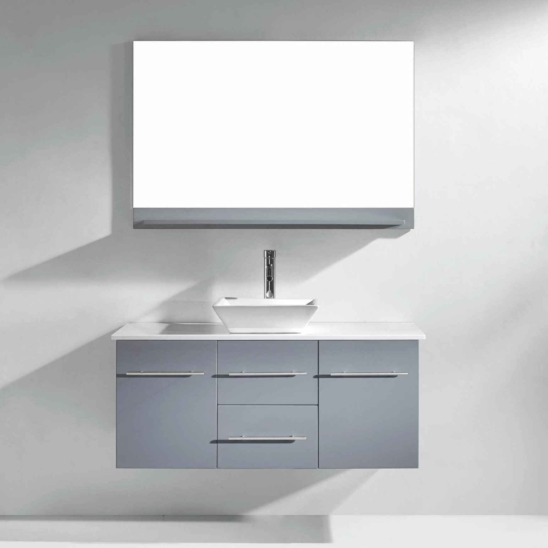 Virtu Marsala 48 Single Bathroom Vanity Set With White