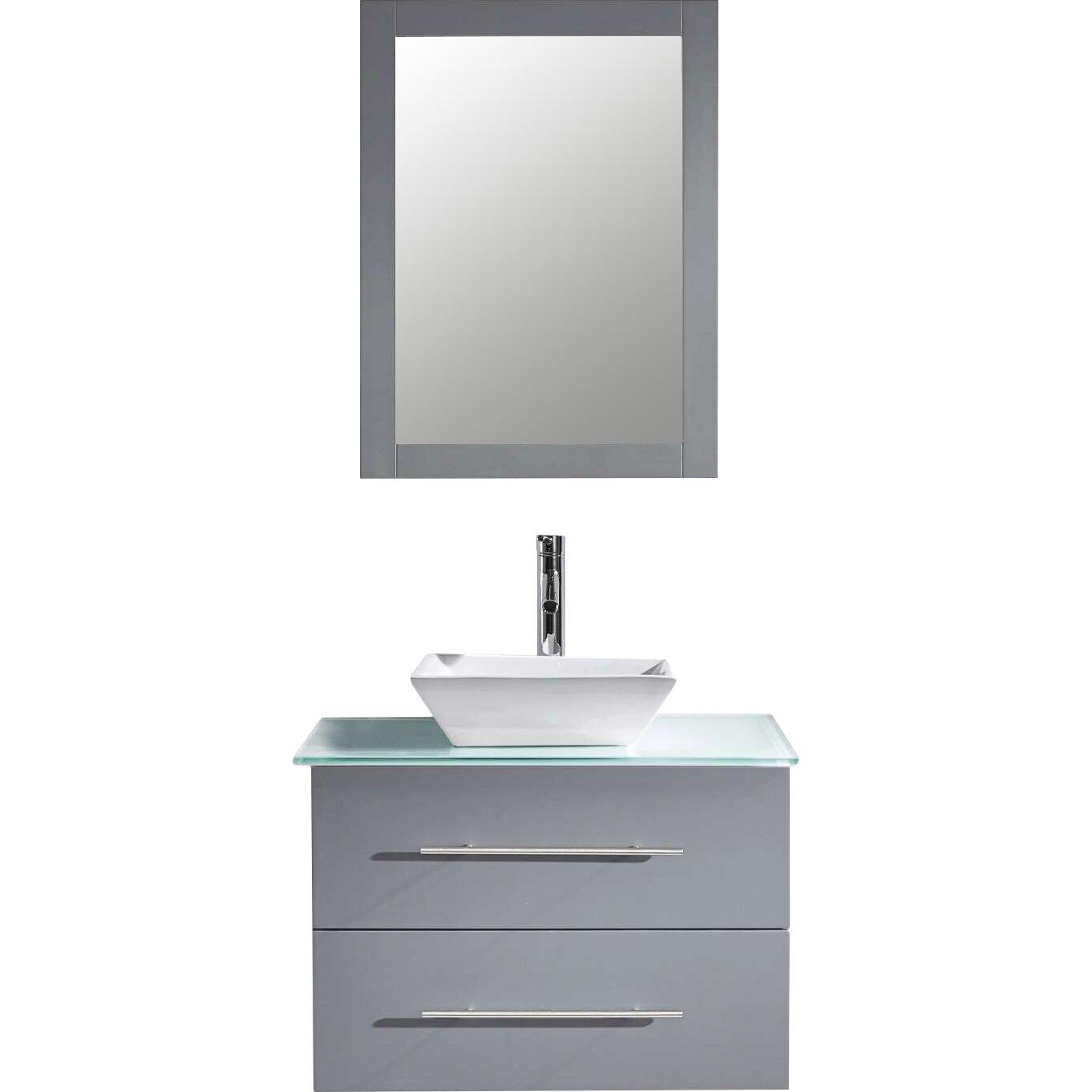 Virtu Marsala 30 Single Bathroom Vanity Set With Tempered