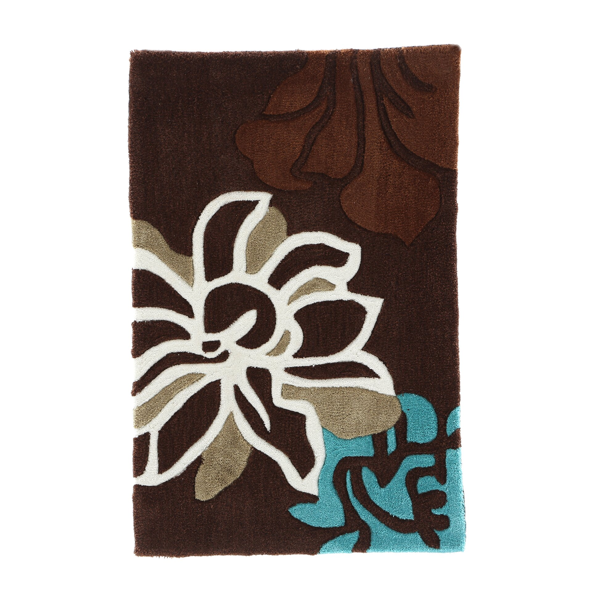 Turquoise And Brown Rug: Linon Rugs Trio Space Area Rug & Reviews