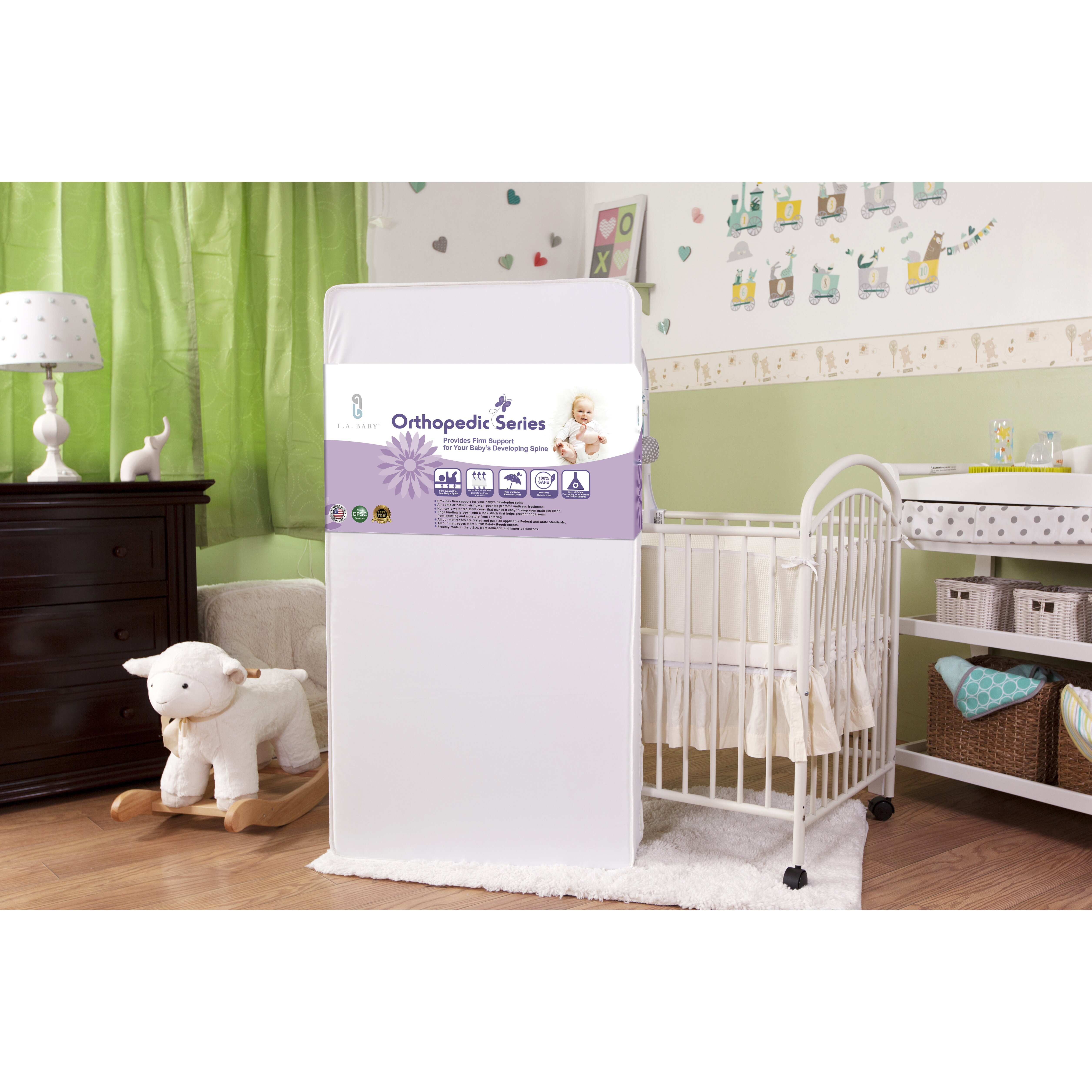 """L A Baby Promotional 150 Coil 6"""" Crib Mattress & Reviews"""