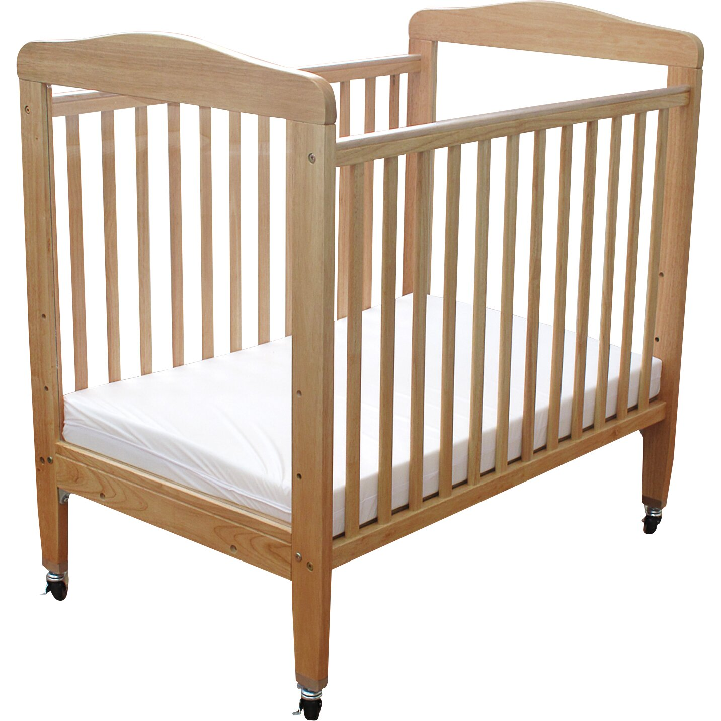 L A Baby pact Wooden Window Convertible Crib with
