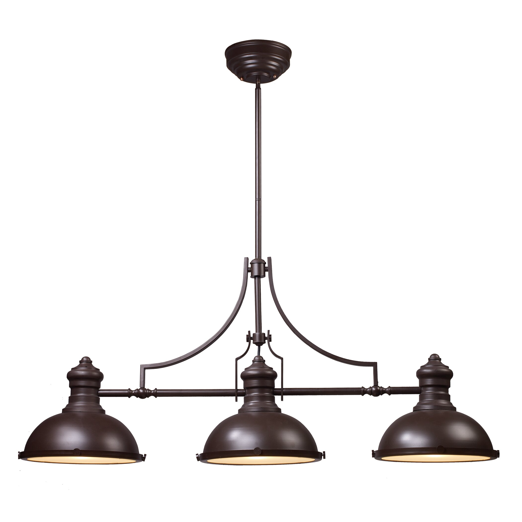 Landmark lighting chadwick 3 light kitchen island pendant for Island kitchen lighting fixtures