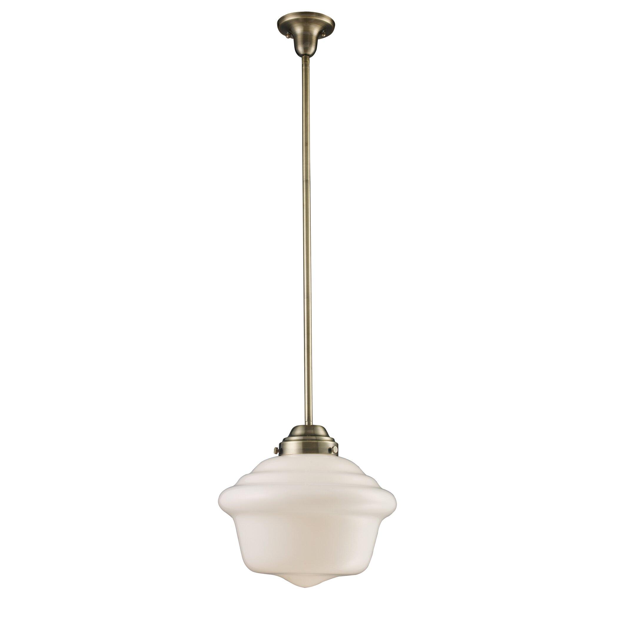 landmark lighting 1 light schoolhouse pendant reviews