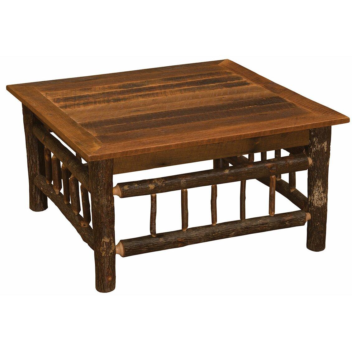 Hickory Dining Room Table Fireside Lodge Hickory Coffee Table Wayfair