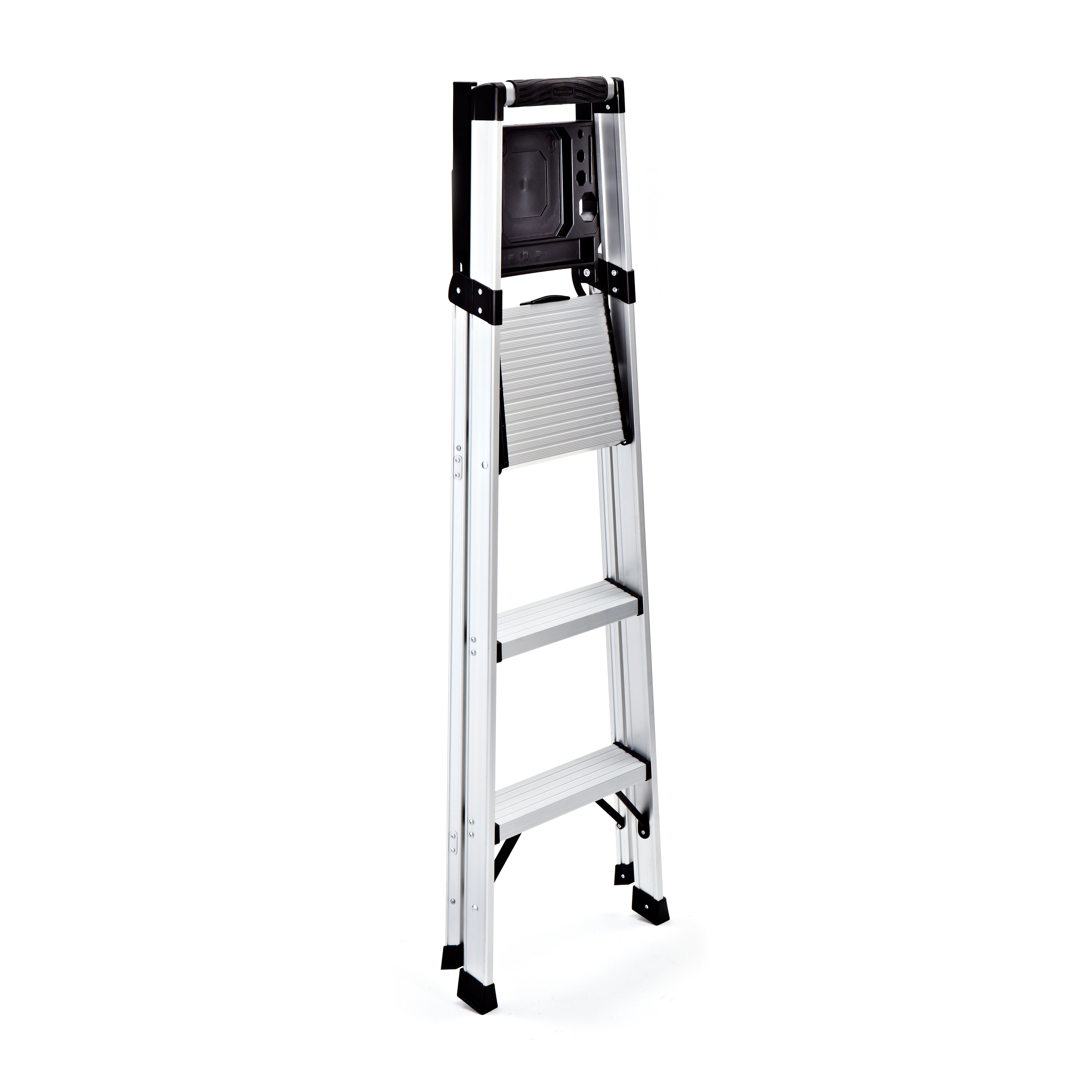 Rubbermaid 3 Step Aluminum Step Stool With 250 Lb Load
