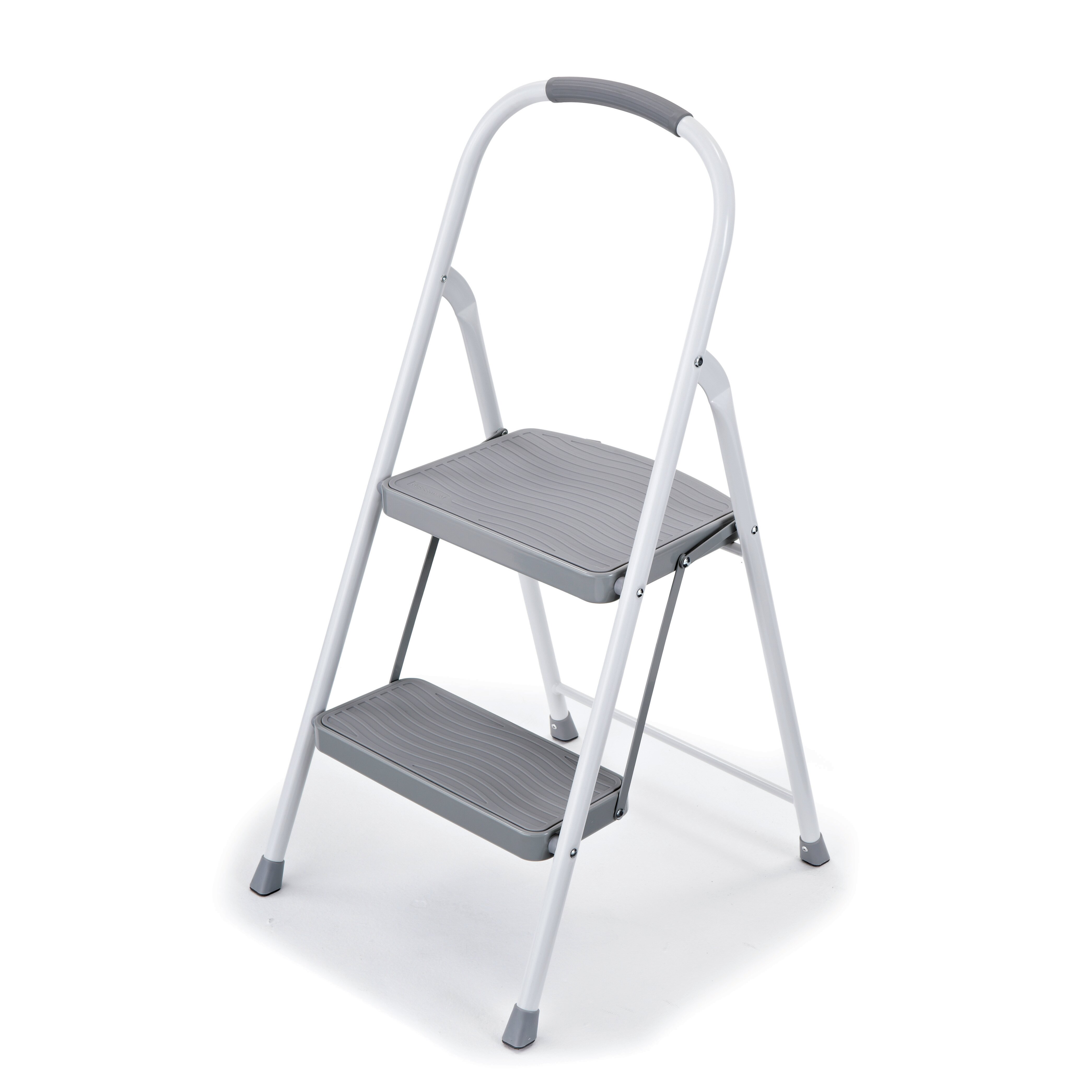 Rubbermaid 2 Step Steel Step Stool With 225 Lb Load