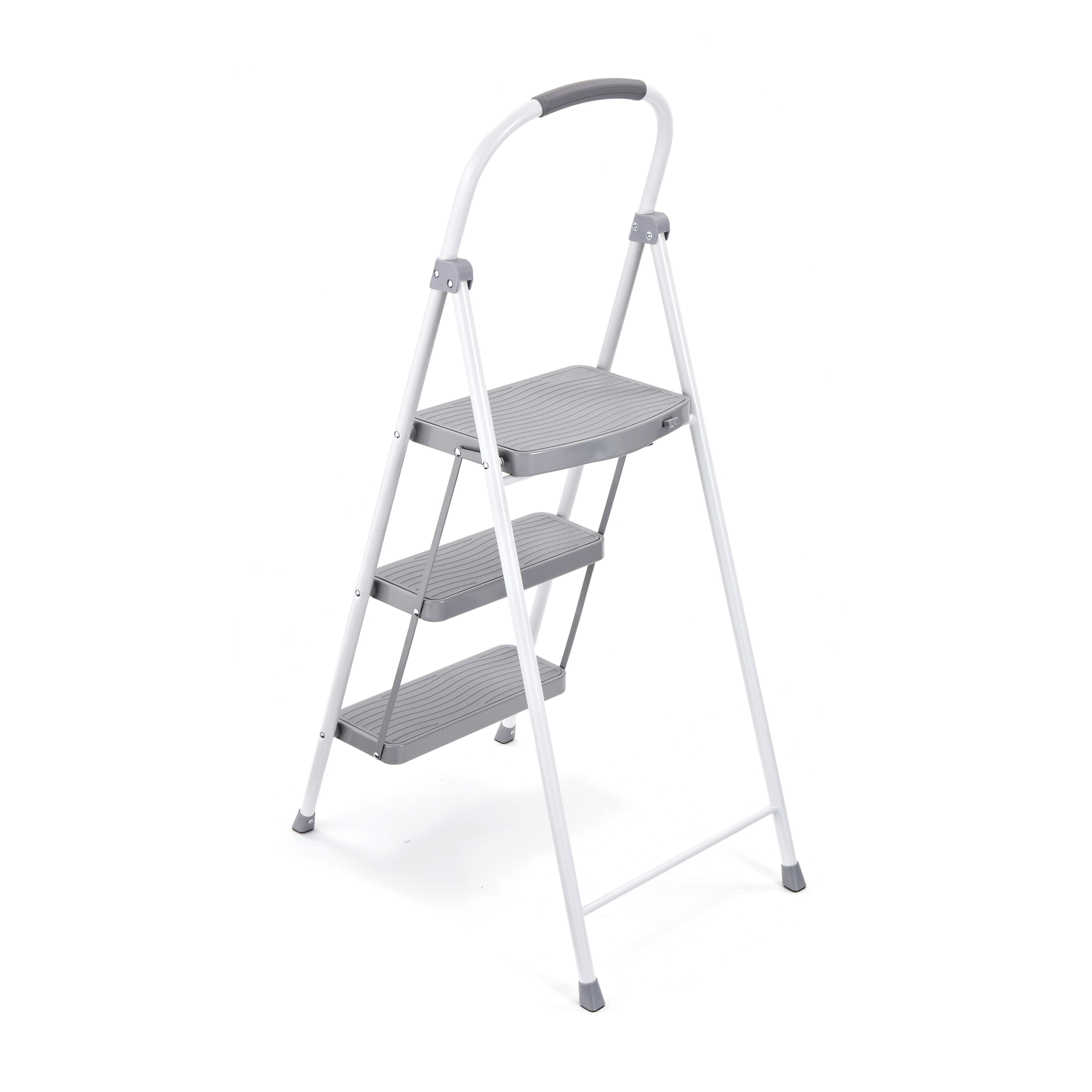 Rubbermaid 3 Step Steel Step Stool With 225 Lb Load