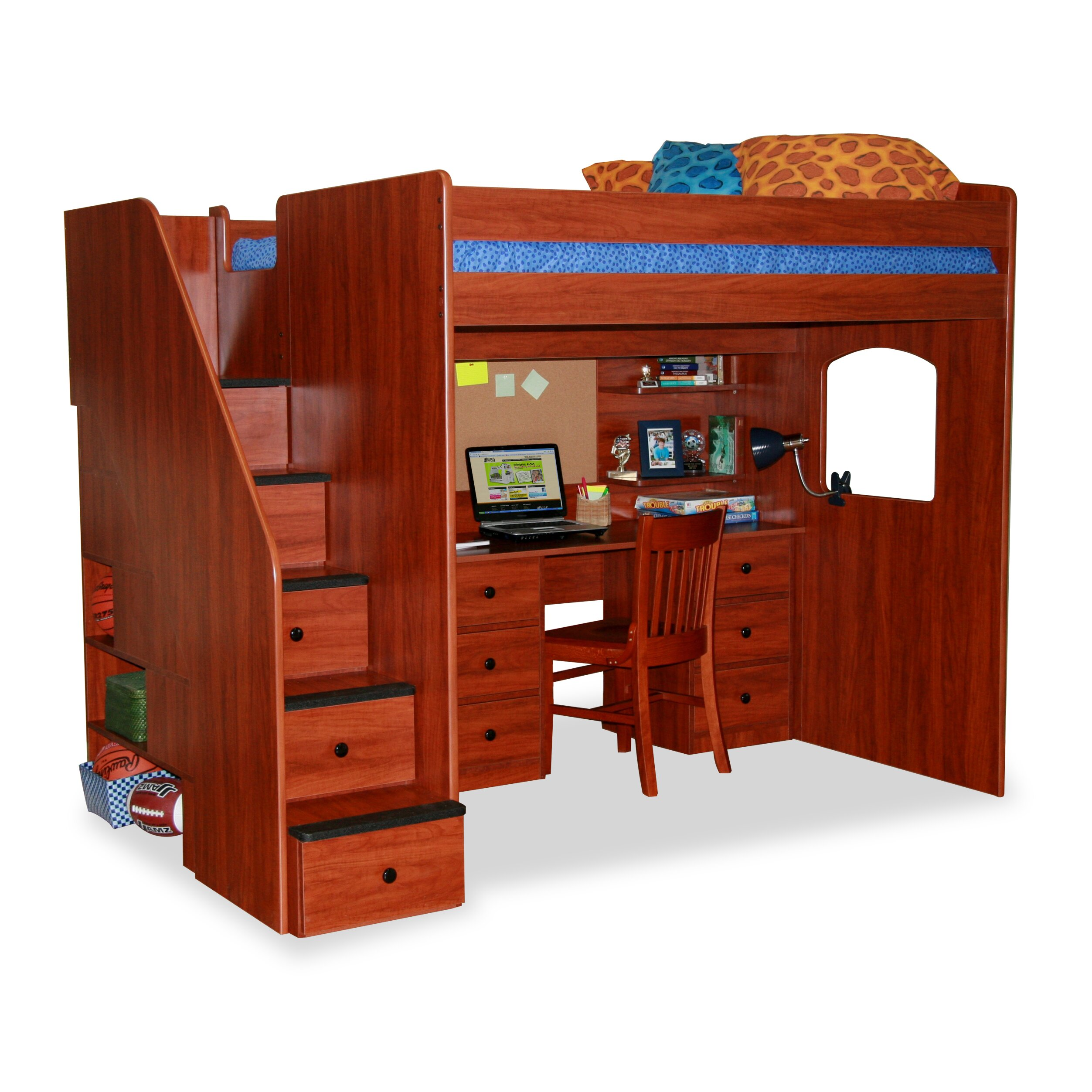 Berg utica loft bed with storage reviews wayfair for Loft furniture