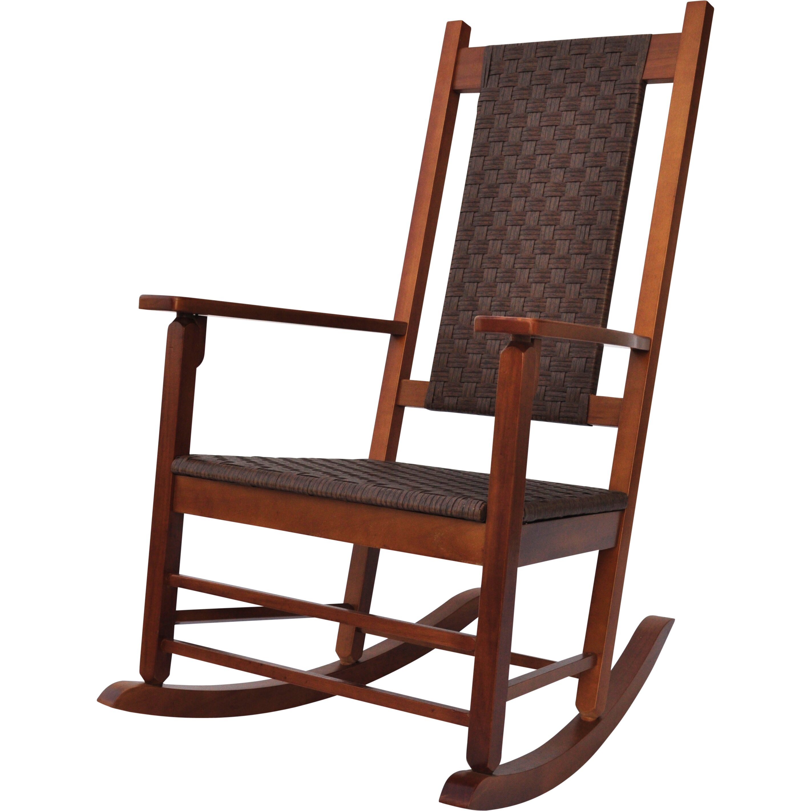 Outdoor Patio Furniture ... Wood Patio Rocking Chairs & Gliders Shine ...