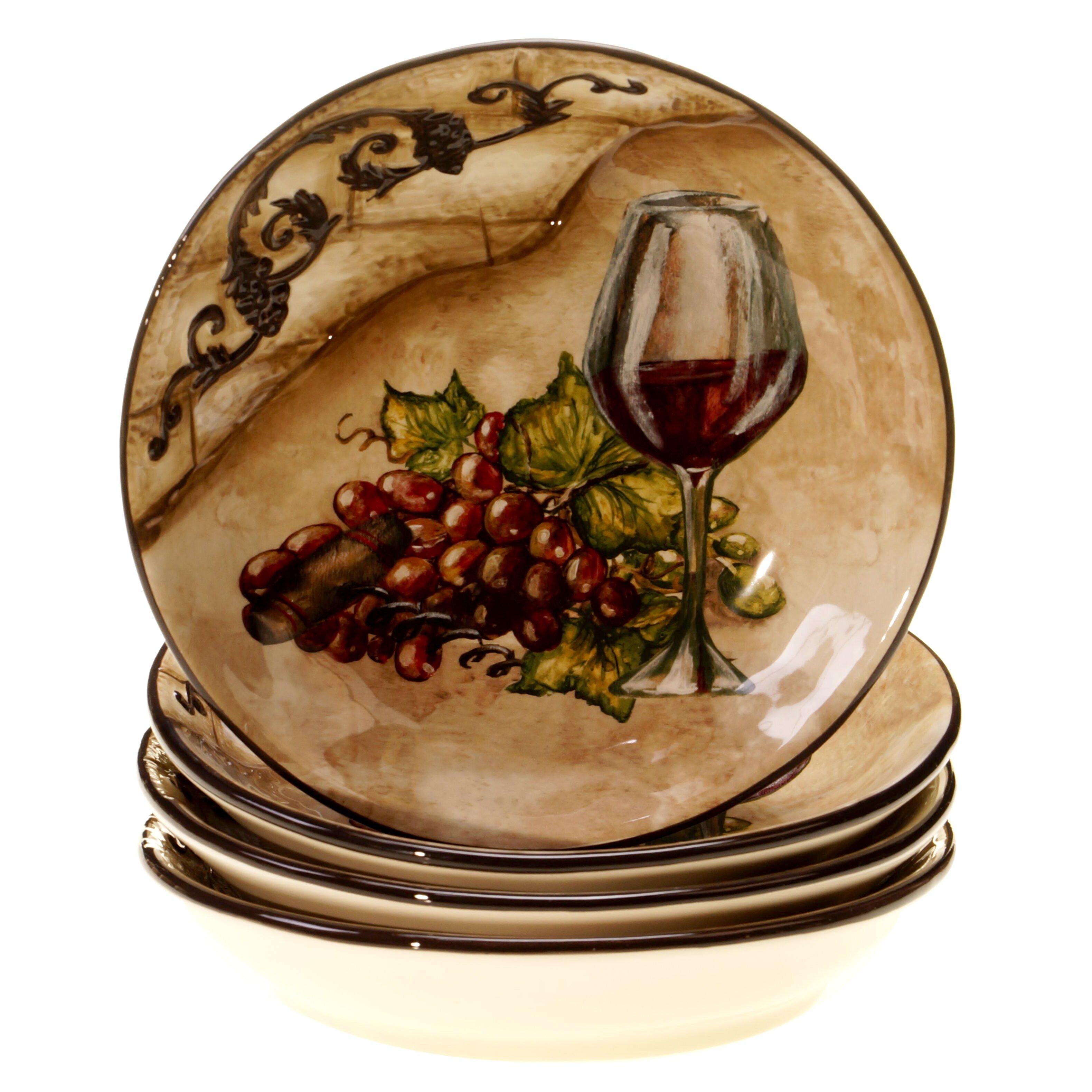Certified International Tuscan View Soup Pasta Bowl