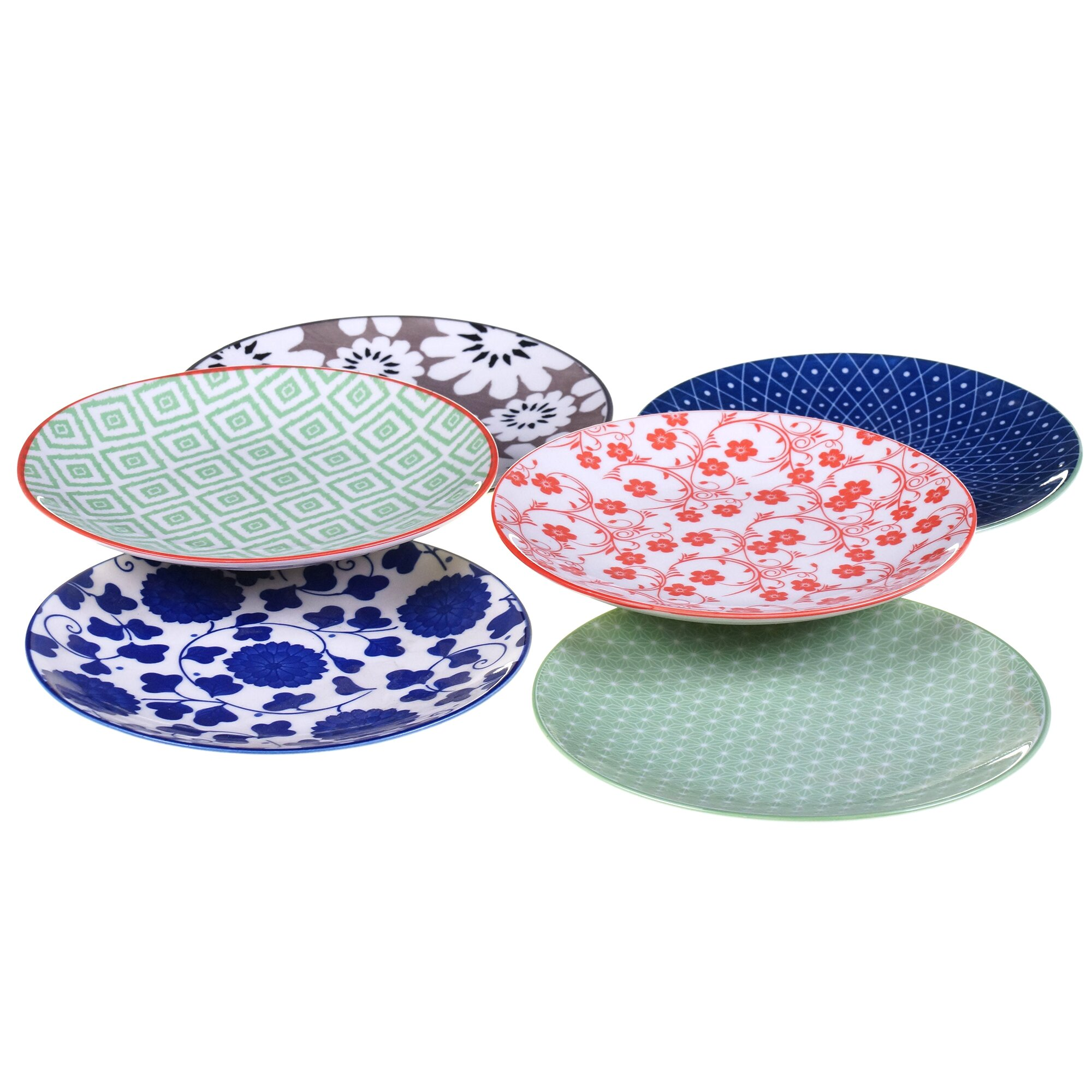 Certified international mix and match soho 5 5 canape for Canape plate sets