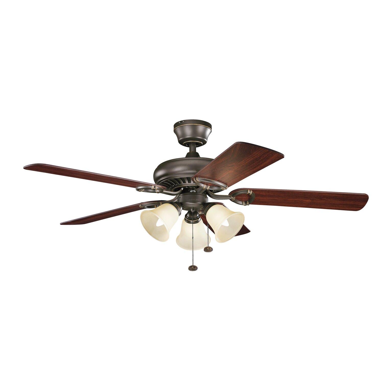 """Ceiling Fans Kichler: Kichler 52"""" Sutter Place Premier 5 Blade Ceiling Fan"""