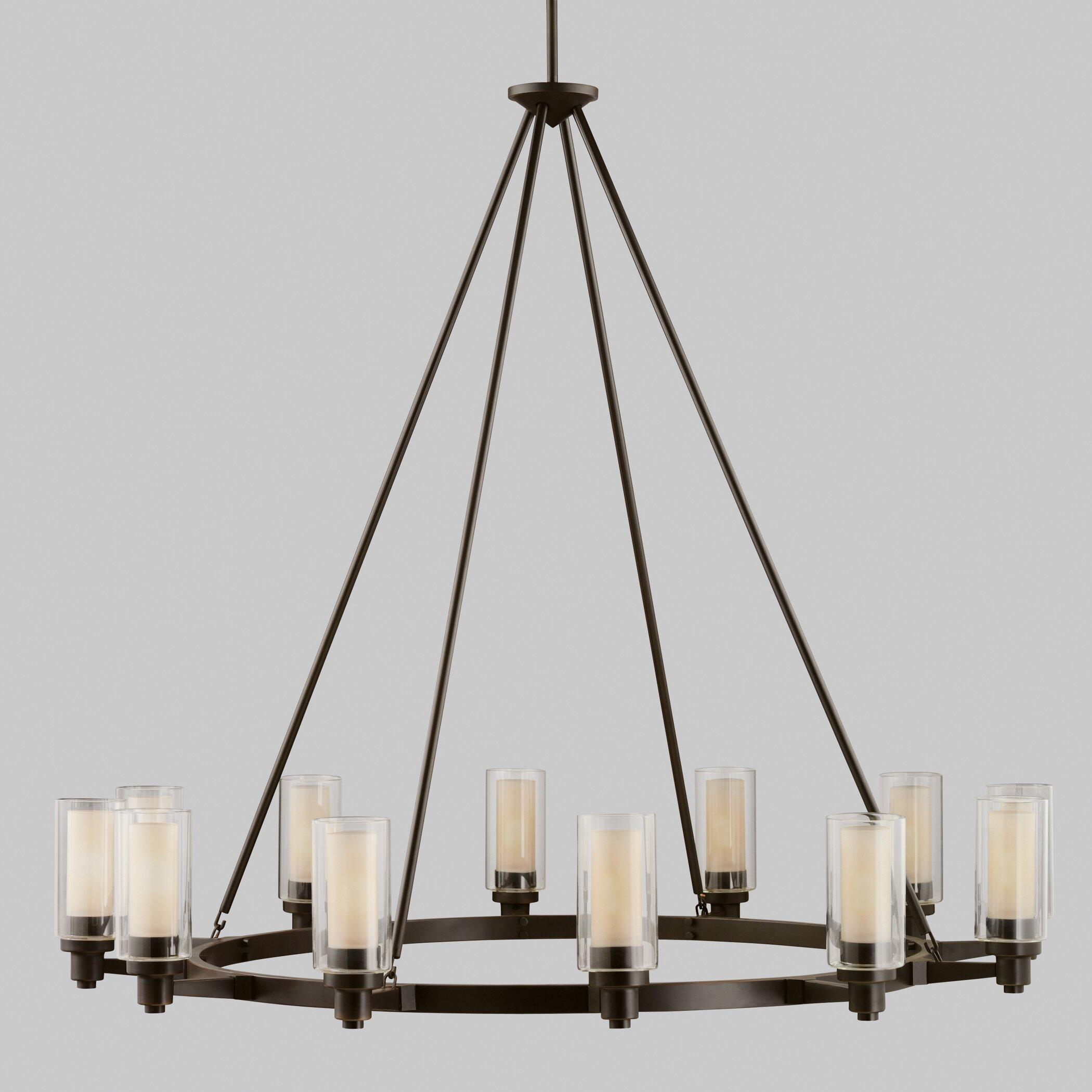 Kichler circolo 12 light chandelier reviews wayfair - Kichler dining room lighting ...