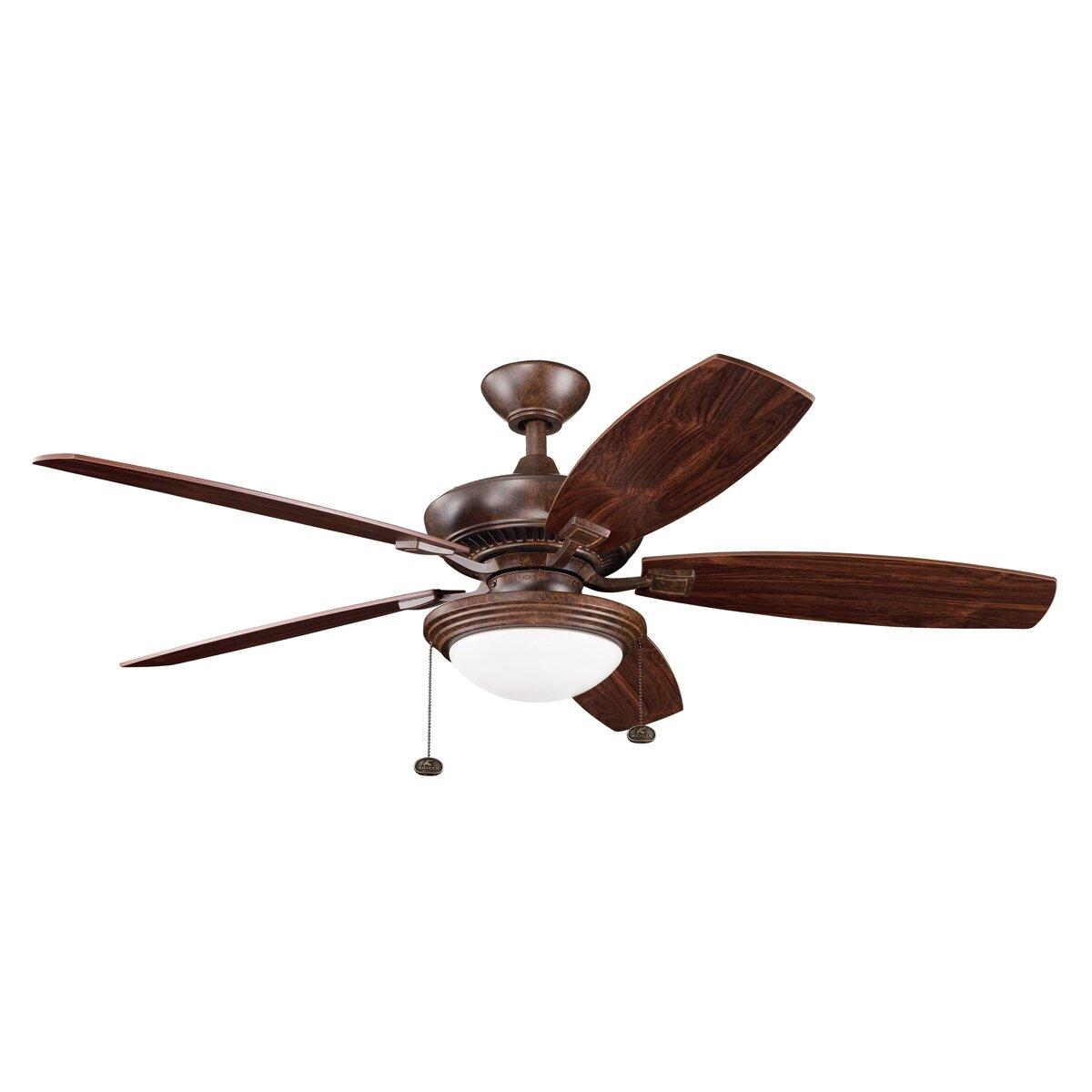 Kichler 52 Quot Canfield 5 Blade Ceiling Fan Amp Reviews Wayfair