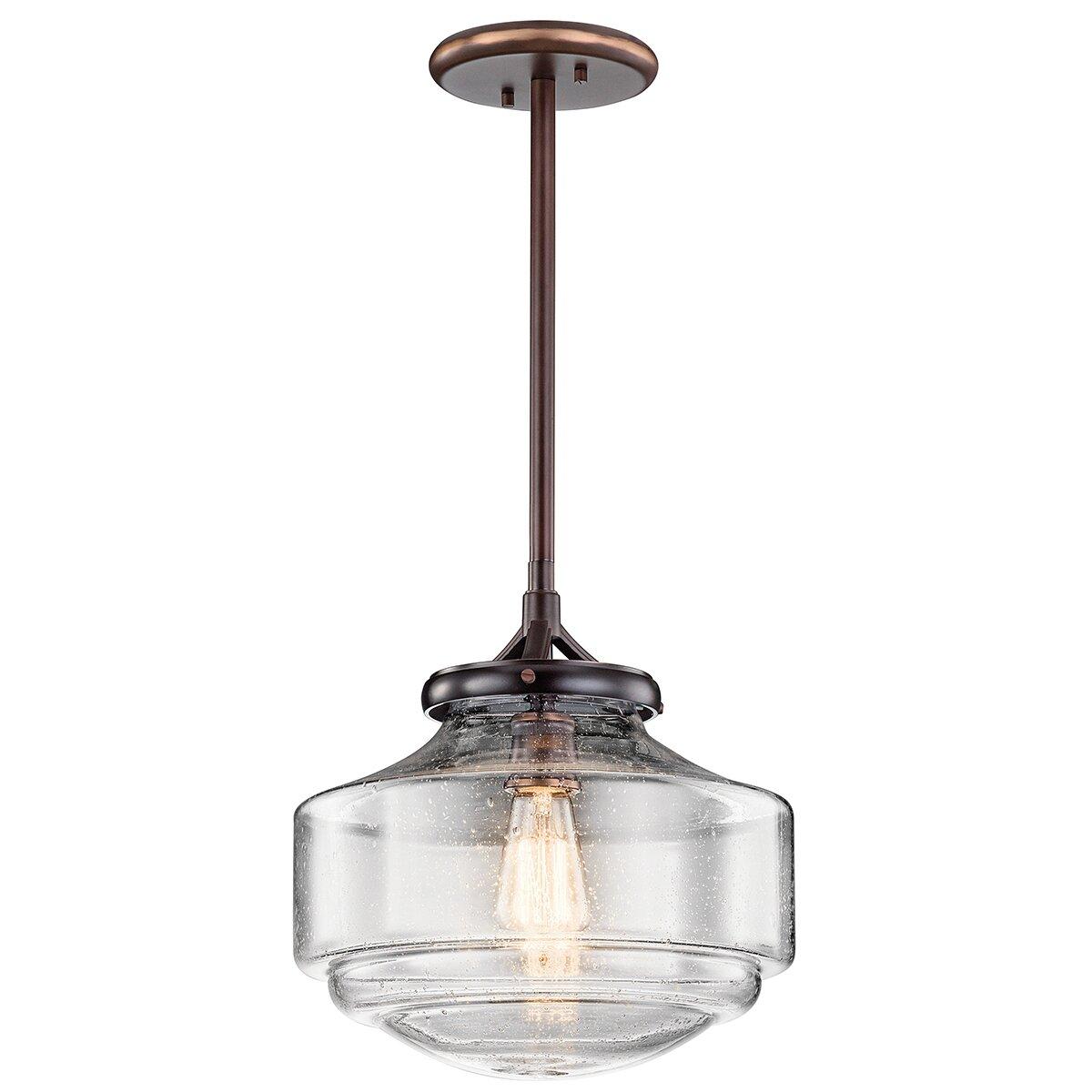 Kichler keller 1 light mini pendant reviews wayfair for Kichler kitchen pendant lighting