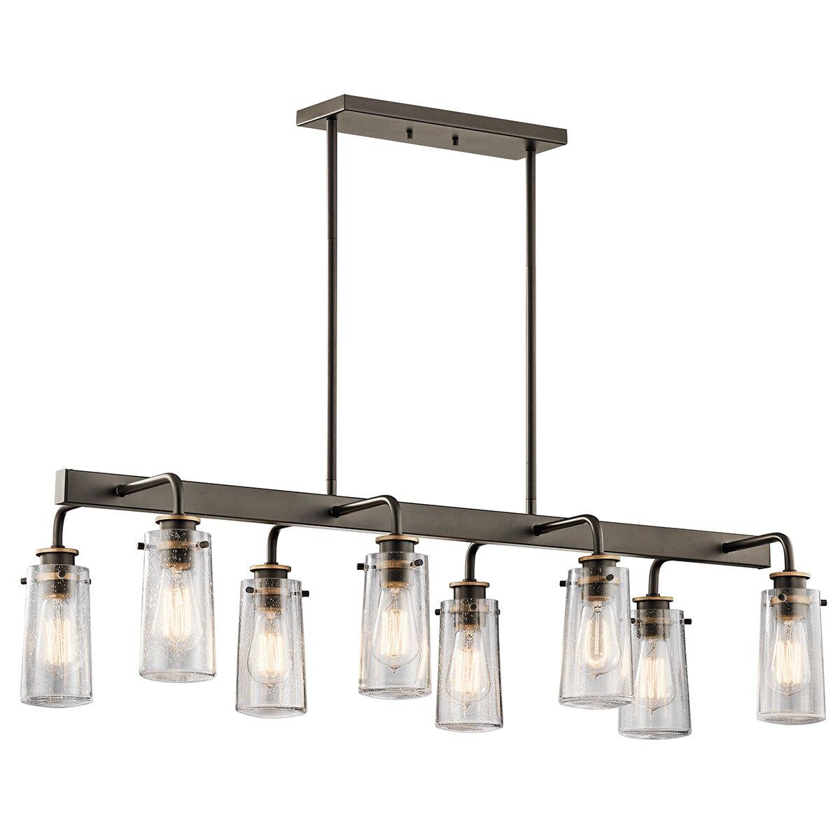 Kichler braelyn 8 light linear chandelier reviews wayfair - Kichler dining room lighting ...