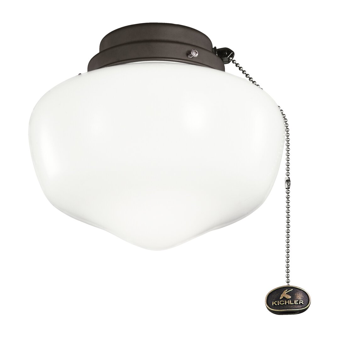 kichler 1 light schoolhouse ceiling fan light kit reviews wayfair. Black Bedroom Furniture Sets. Home Design Ideas