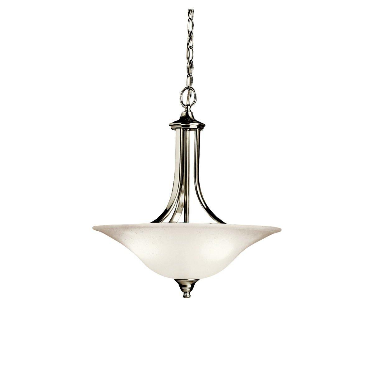 Kichler dover 3 light convertible inverted pendant for Kichler kitchen pendant lighting