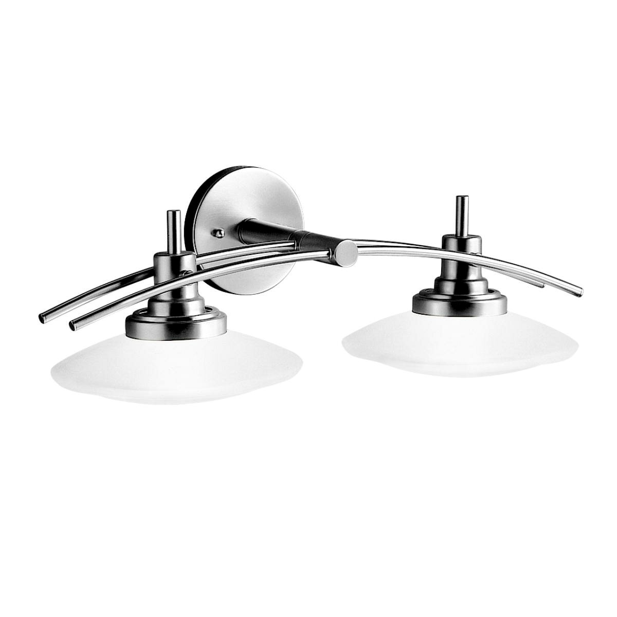 kichler bathroom lighting kichler structures 2 light vanity light amp reviews wayfair 13301