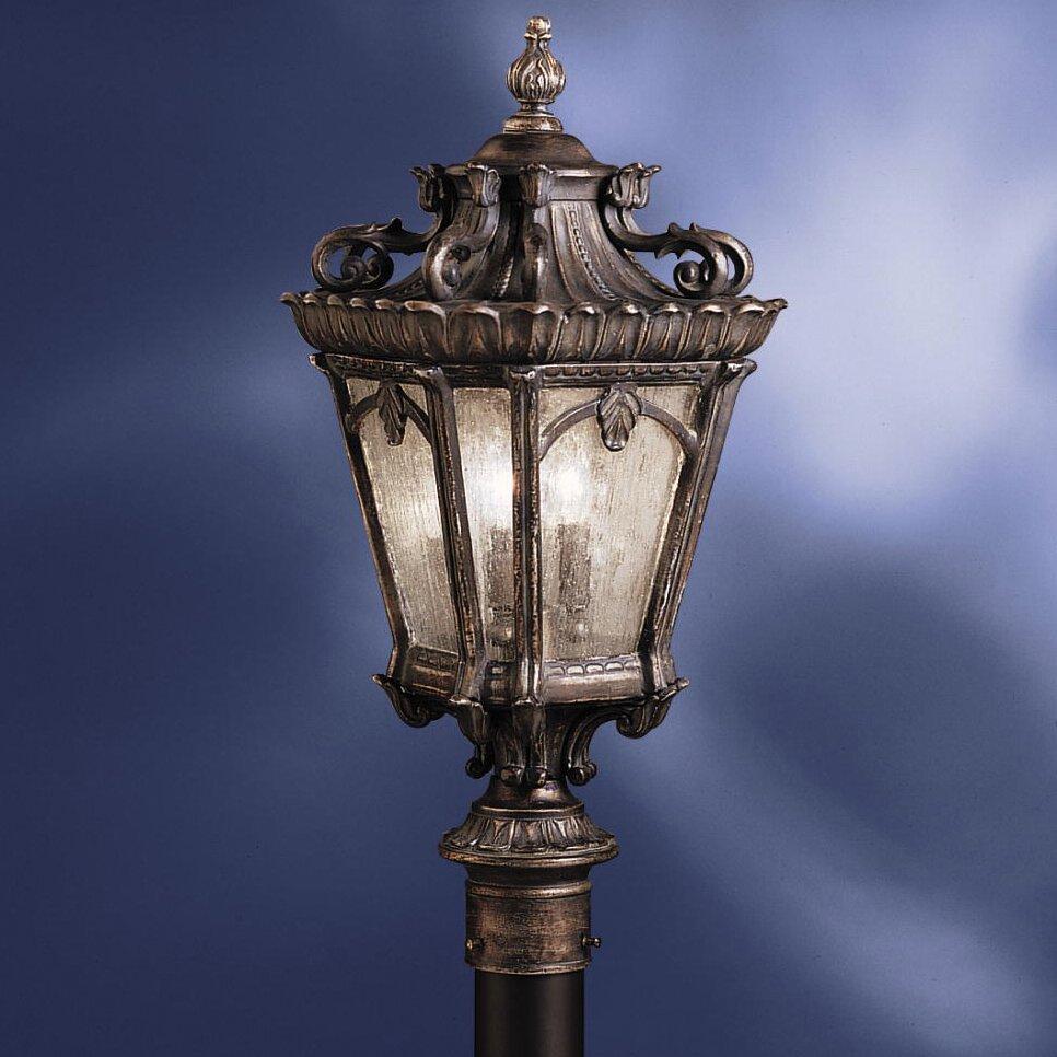 Kichler tournai 4 light 230 outdoor post lantern set for Outdoor landscape lighting sets