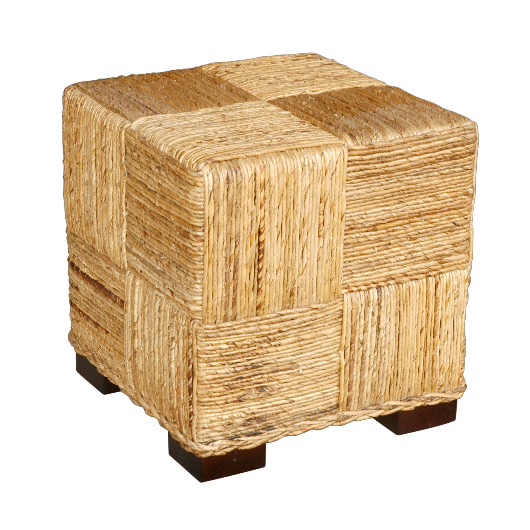 Jeffan Marina Abaca Cube Ottoman Reviews Wayfair