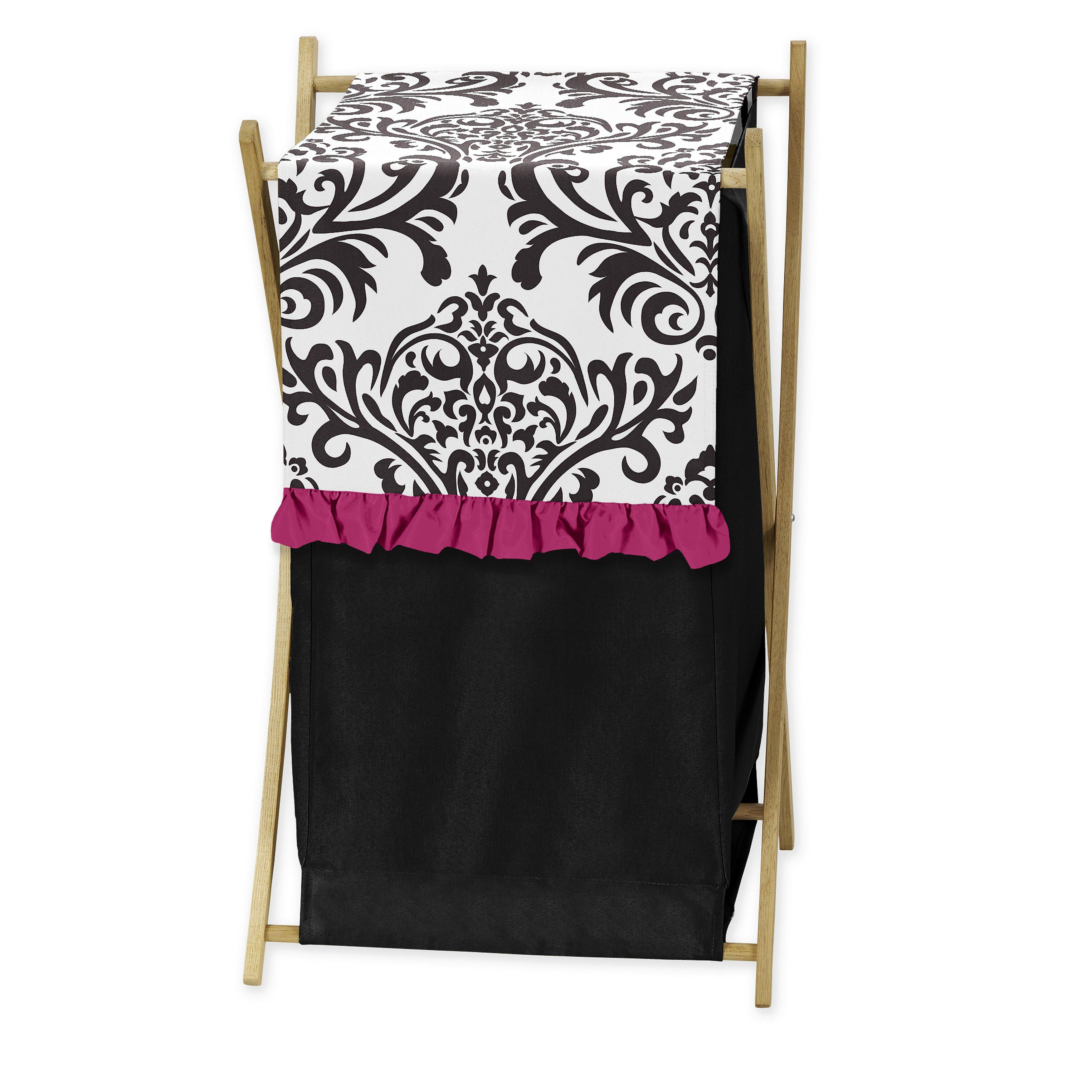 Sweet Jojo Designs Isabella Hot Pink Black And White