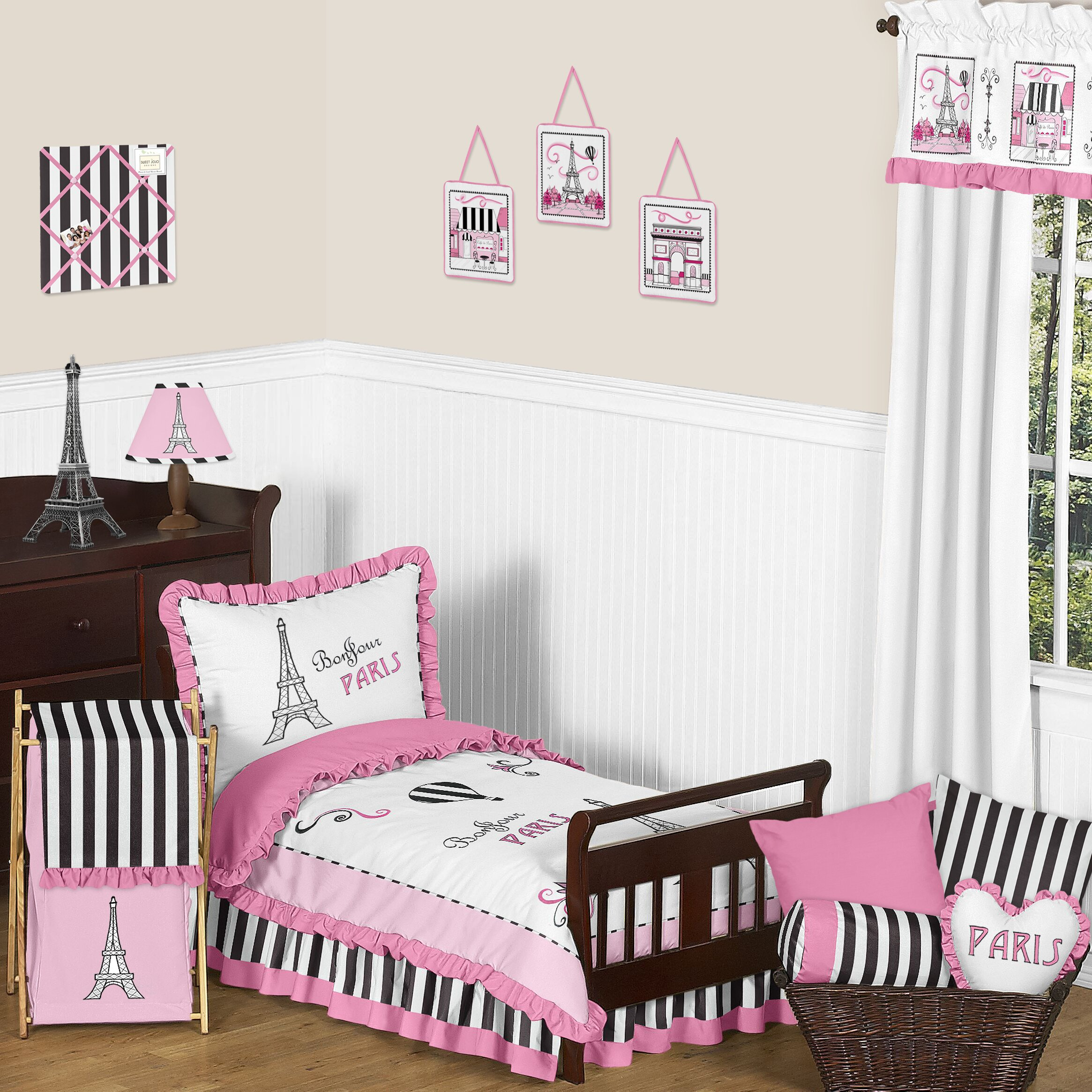 Sweet Jojo Designs Paris 5 Piece Toddler Bedding Set & Reviews