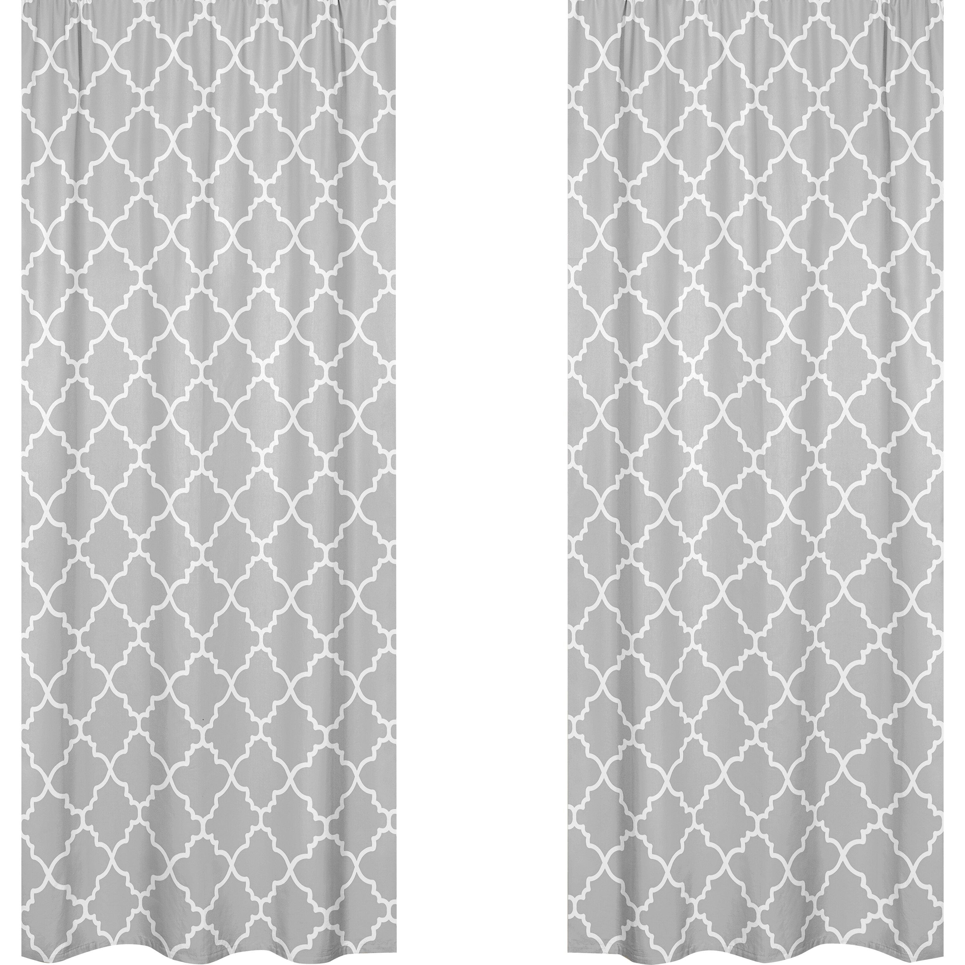 Sweet jojo designs trellis curtain panels reviews wayfair for Window trellis design