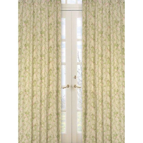 Sweet jojo designs annabel cotton curtain panels reviews for Window cotton design