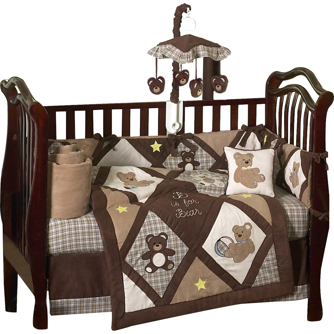 Teddy Bear  Piece Crib Bedding Set