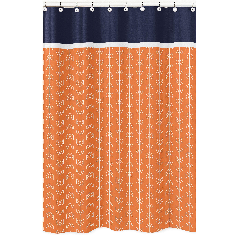 Sweet Jojo Designs Arrow Microfiber Shower Curtain & Reviews | Wayfair