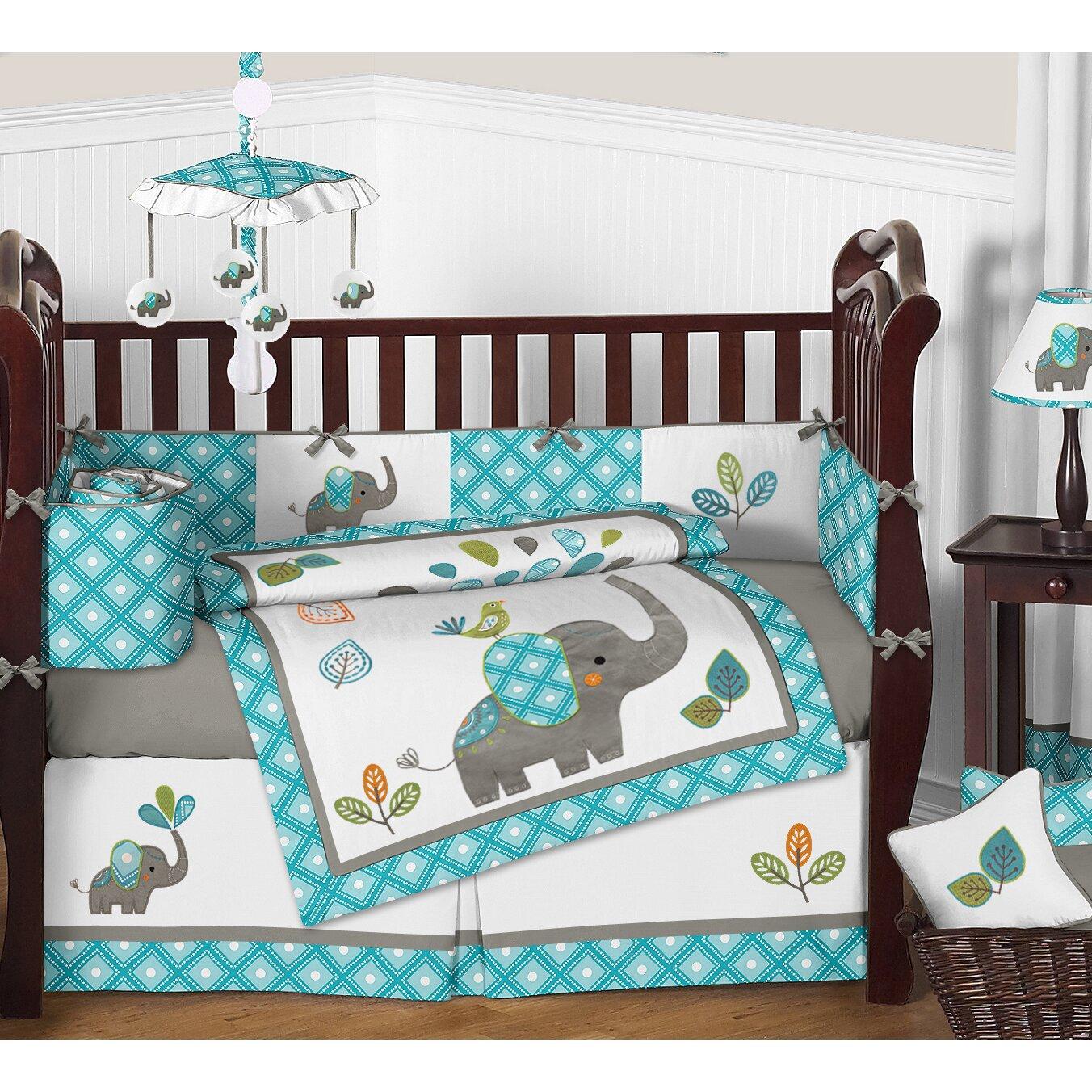 Baby Elephant Crib Bedding Set