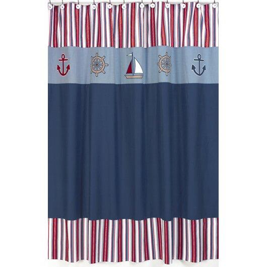Sweet jojo designs nautical nights shower curtain for Sweet jojo designs bathroom