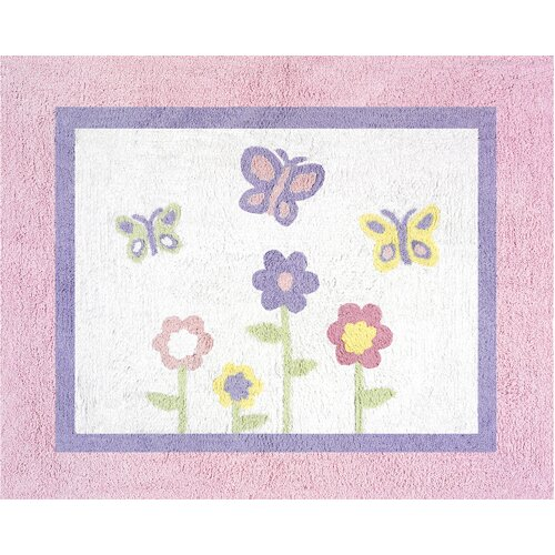 Xl Purple Rug: Sweet Jojo Designs Butterfly Floor Pink & Purple Area Rug