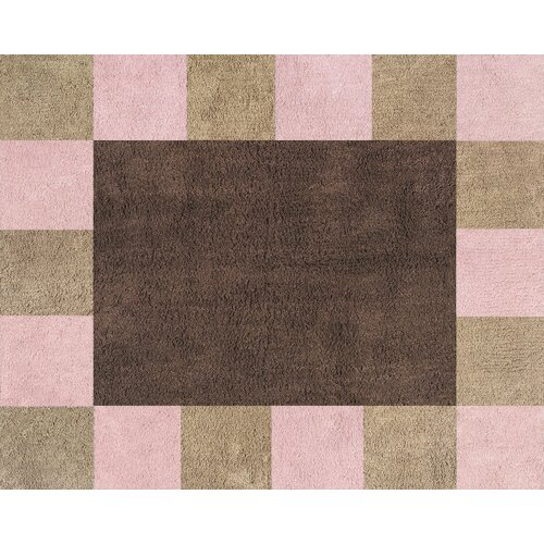 Sweet Jojo Designs Soho Pink And Brown Outdoor Area Rug