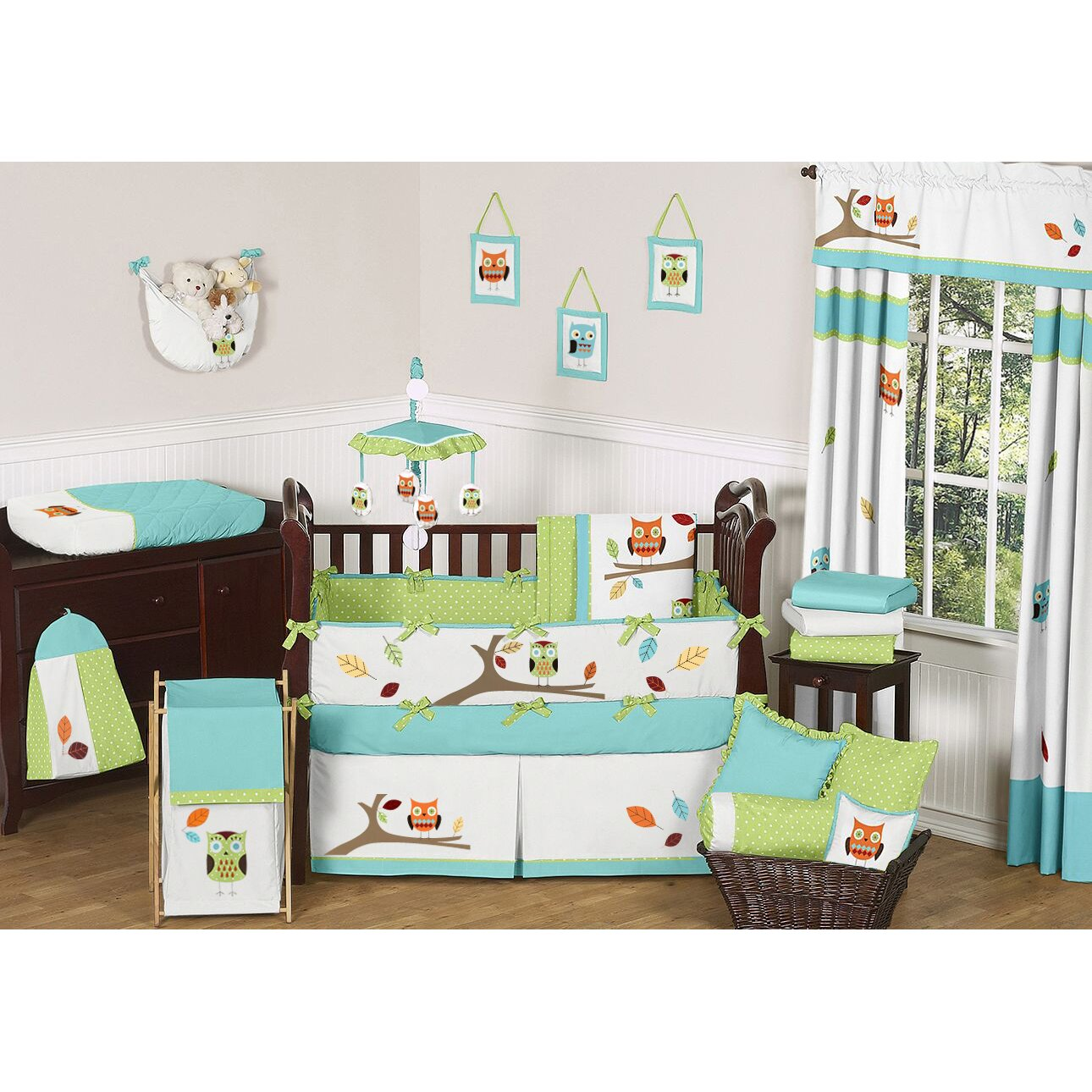 Sweet Jojo Designs Hooty 9 Piece Crib Bedding Set | Wayfair