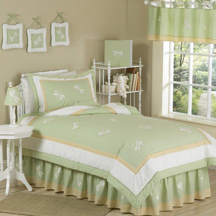 Sweet jojo designs green dragonfly dreams kid twin comforter