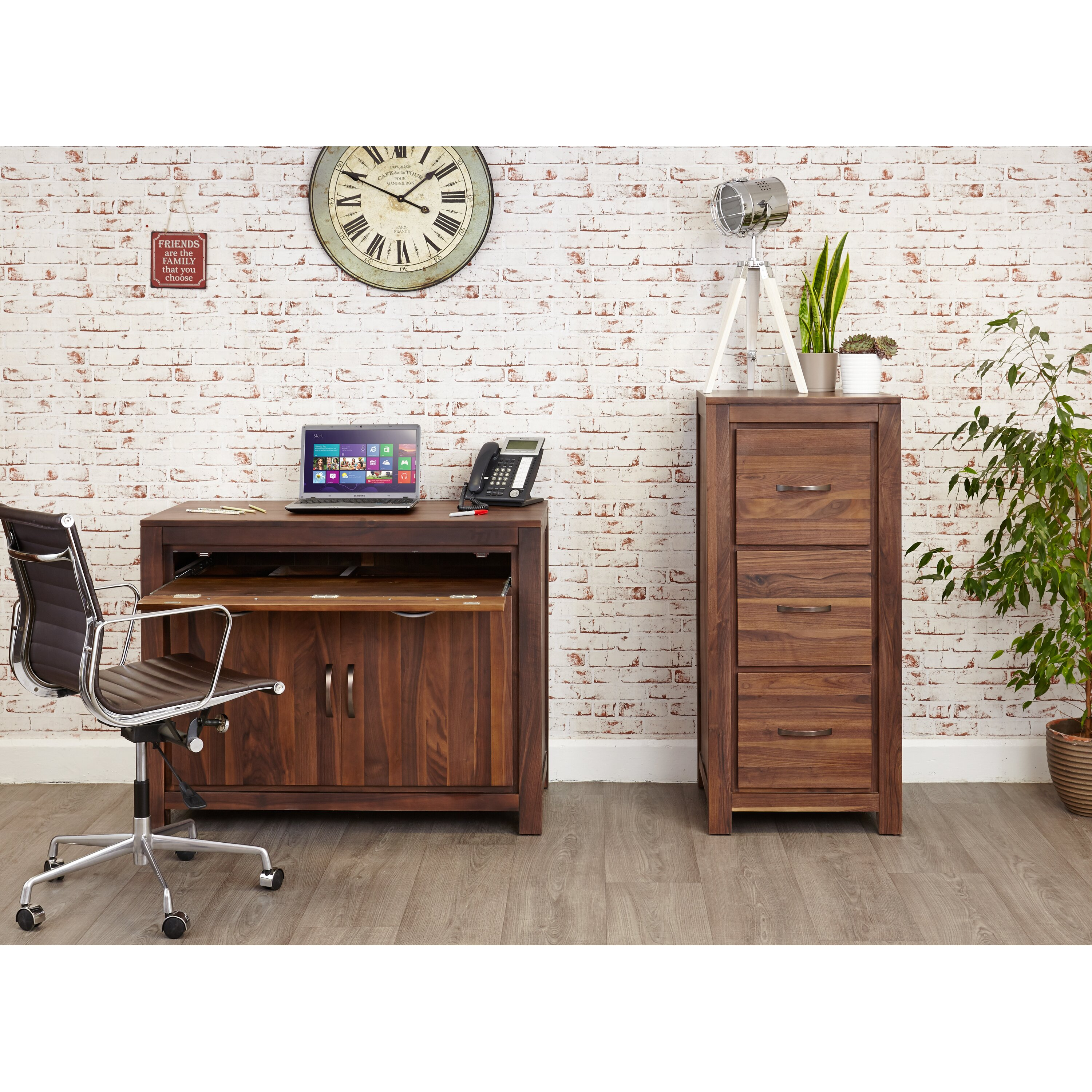 baumhaus hidden home office 2 baumhaus mayan walnut armoire desk with keyboard tray atlas oak hidden home