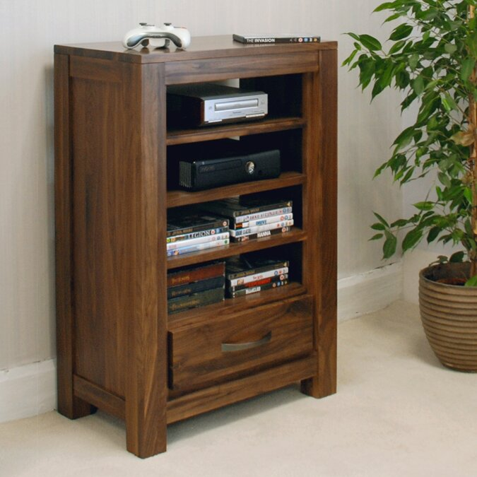 baumhaus mayan walnut hifi rack reviews wayfair uk. Black Bedroom Furniture Sets. Home Design Ideas