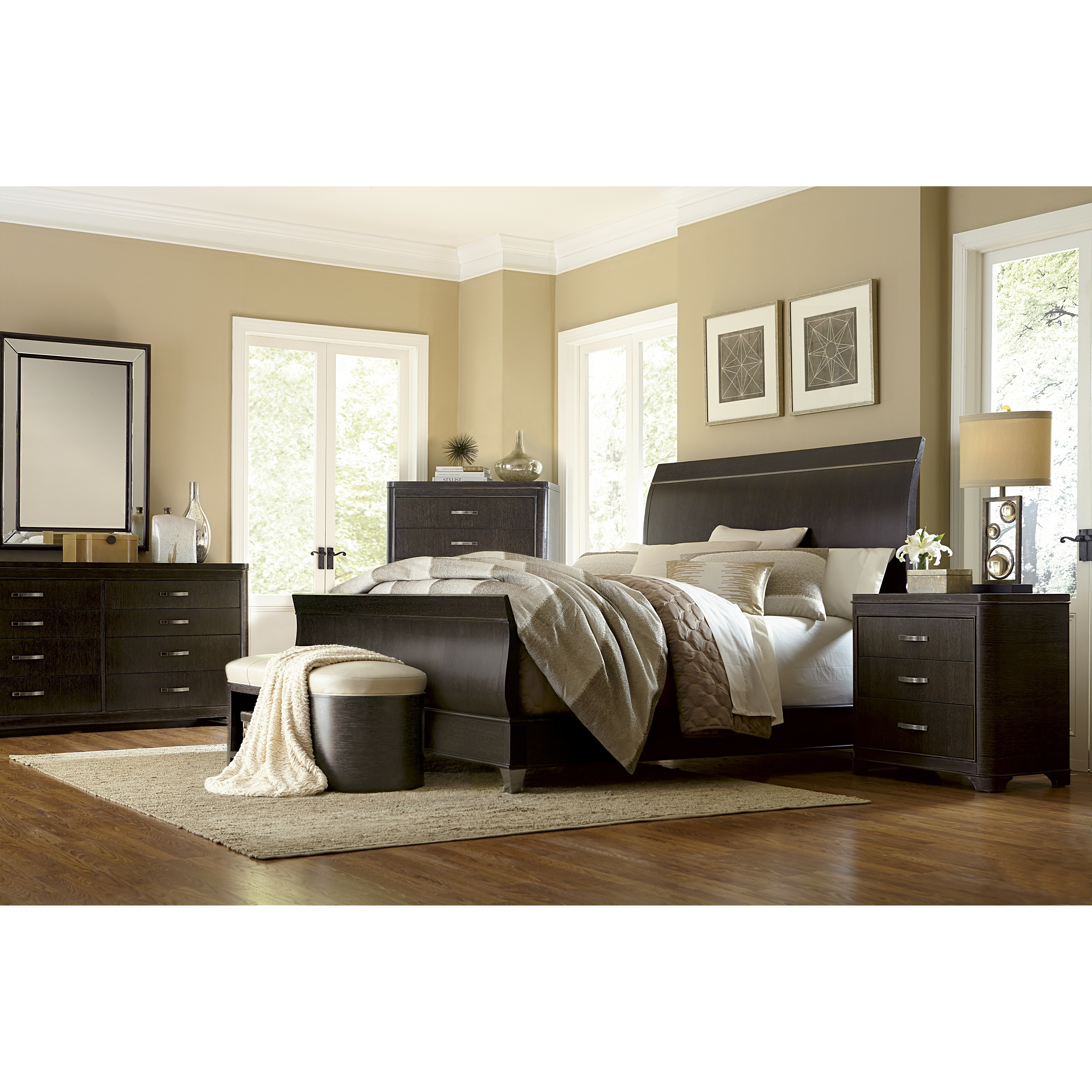 A R T Greenpoint Sleigh Customizable Bedroom Set