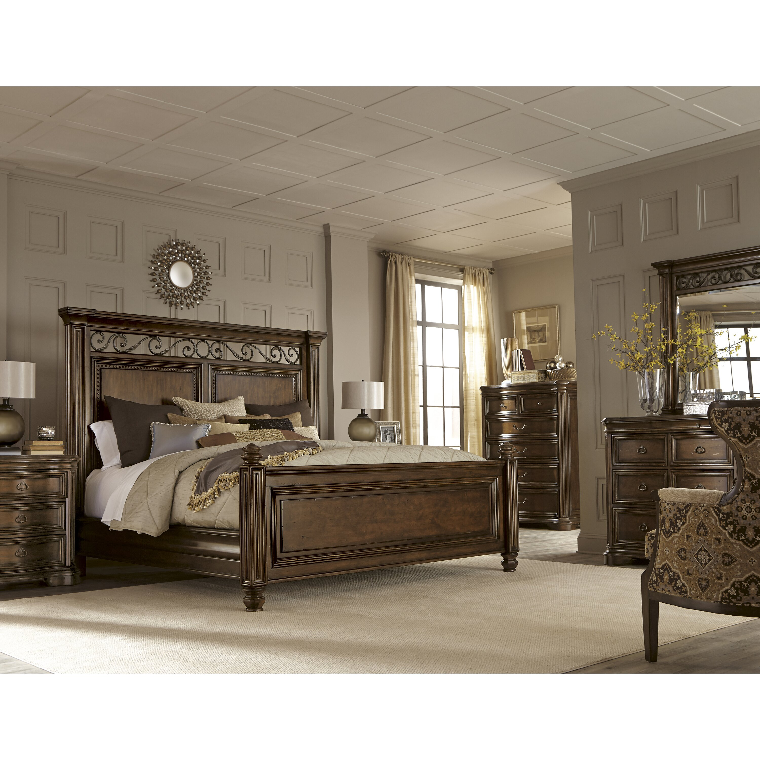 A R T La Viera Panel Customizable Bedroom Set
