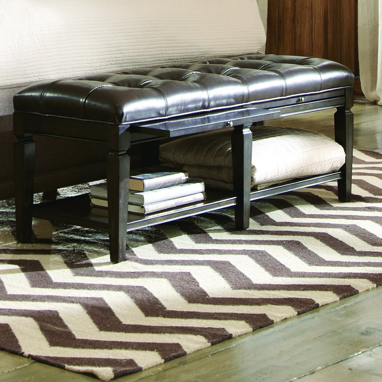 A R T Classic Wood Storage Bedroom Bench Wayfair