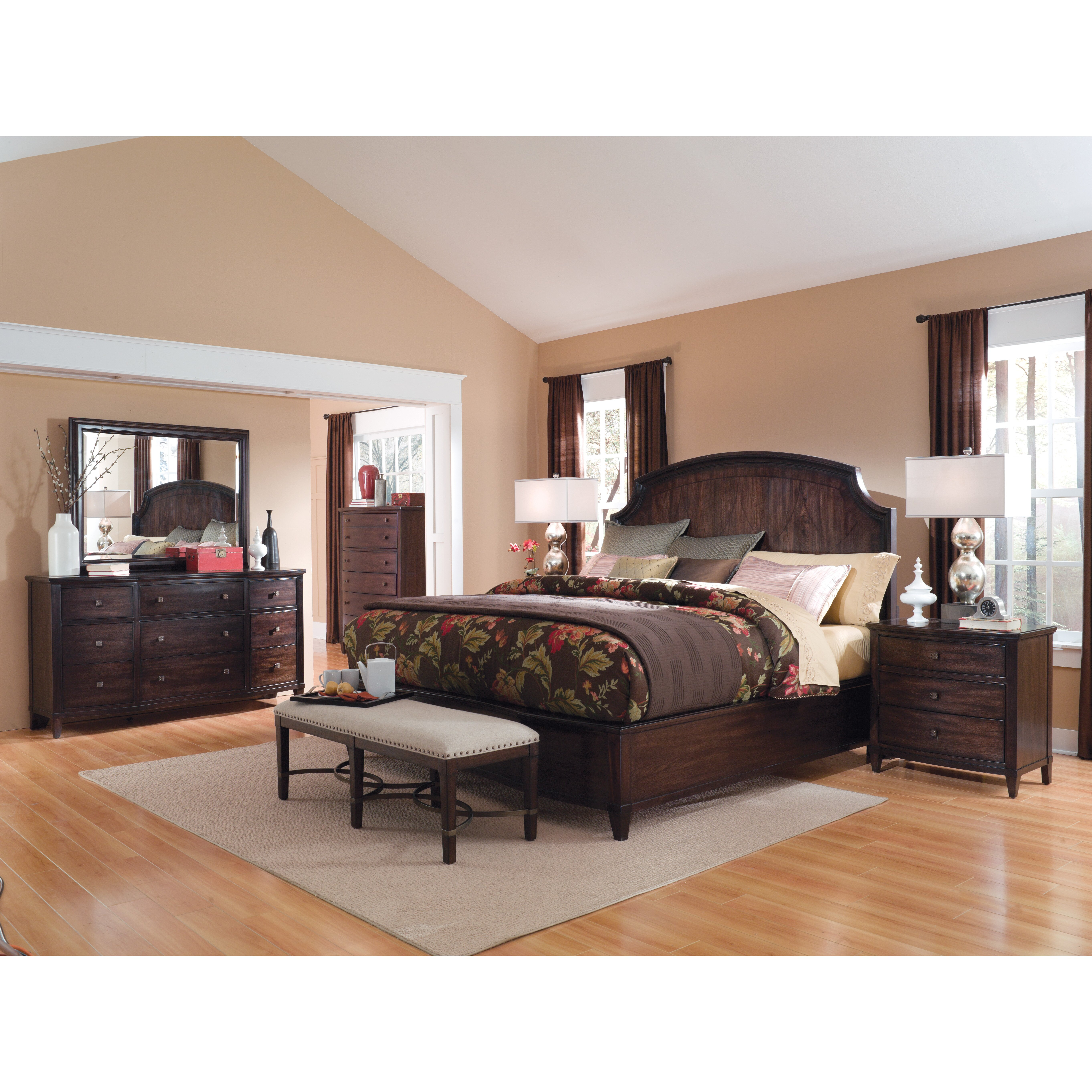 A R T Intrigue King Platform Customizable Bedroom Set