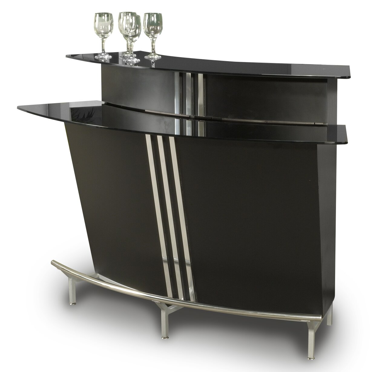 Chintaly Broadway Bar With Wine Storage Reviews Wayfair