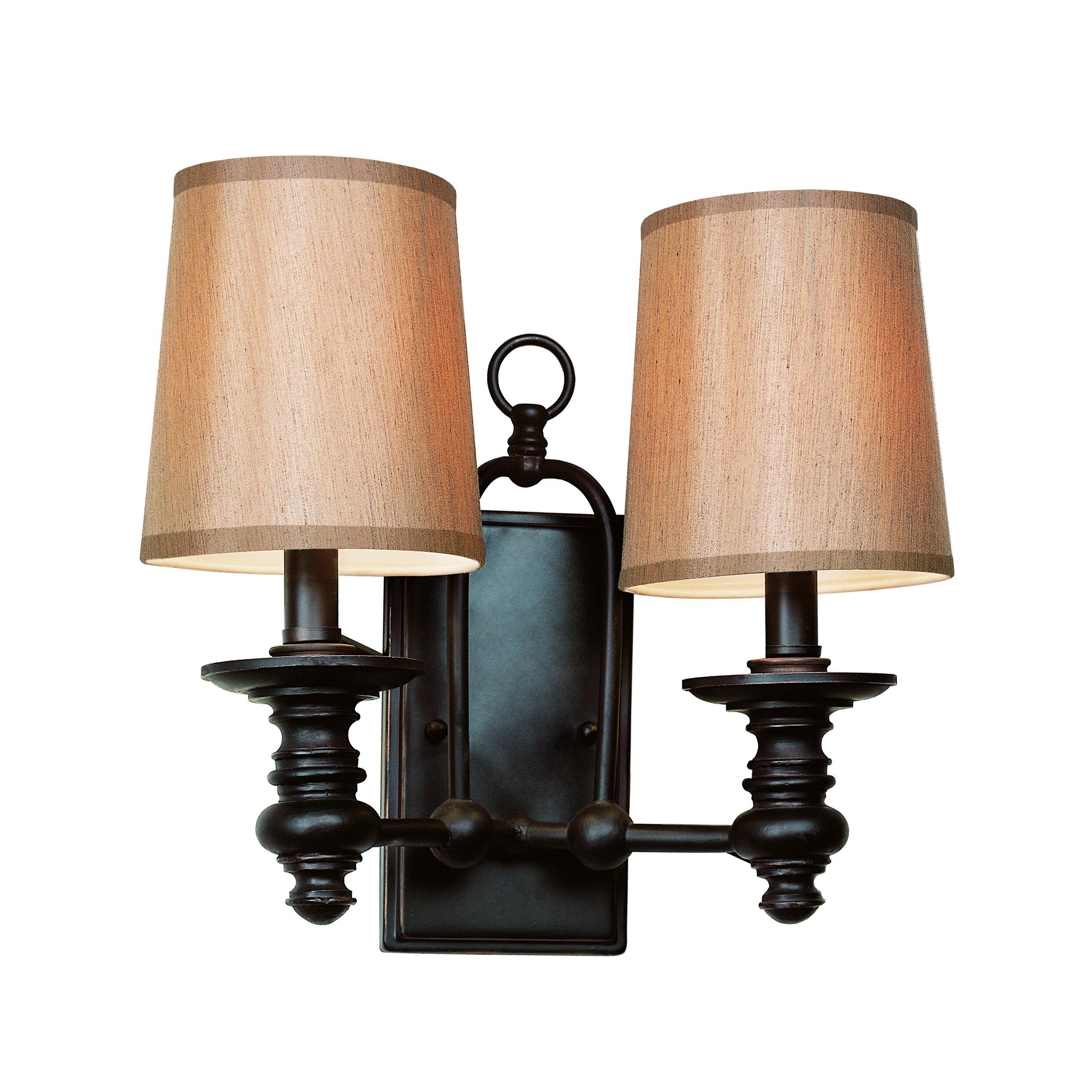 Transglobe Lighting Modern Meets Traditional 2 Light Wall