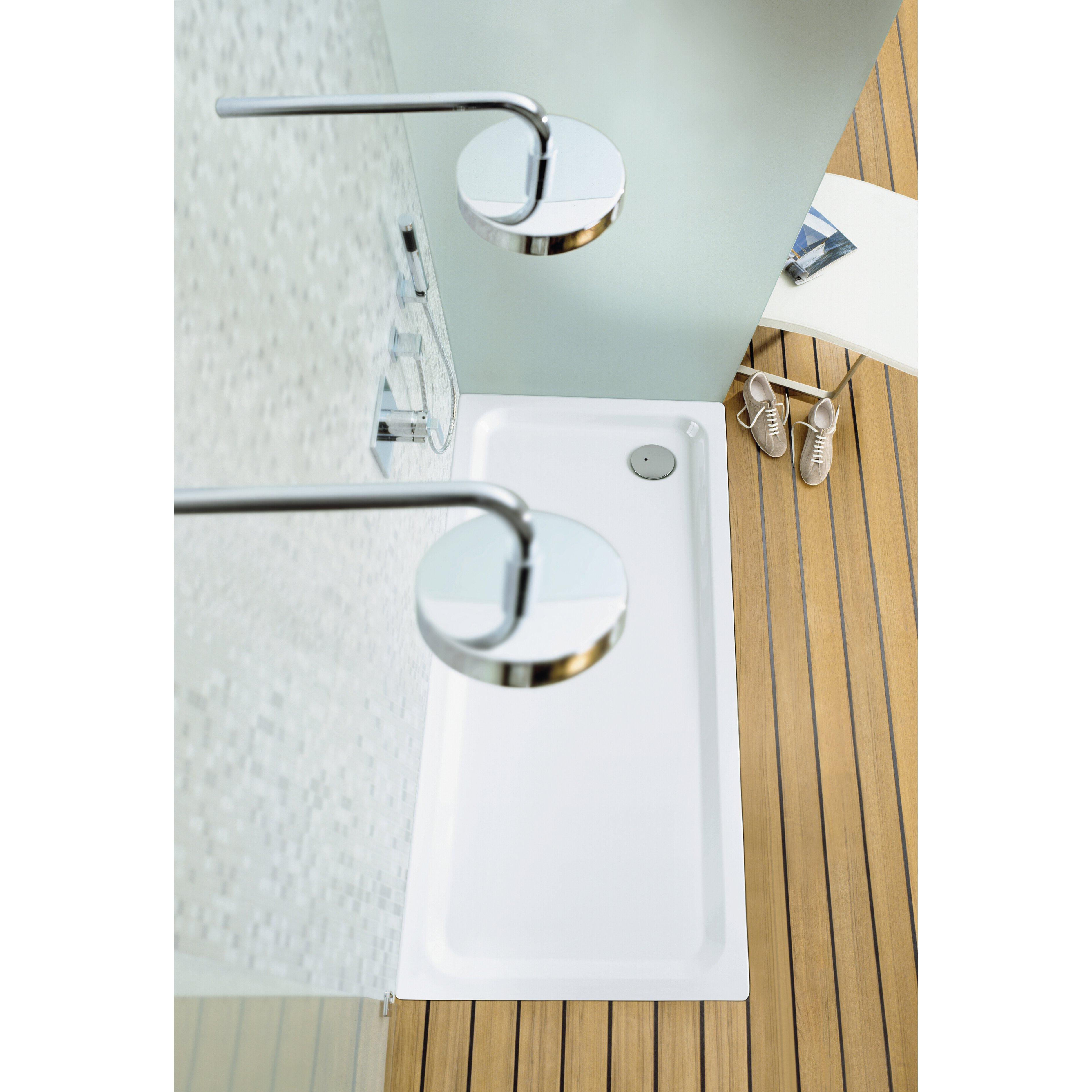 kaldewei superplan shower base reviews wayfair. Black Bedroom Furniture Sets. Home Design Ideas