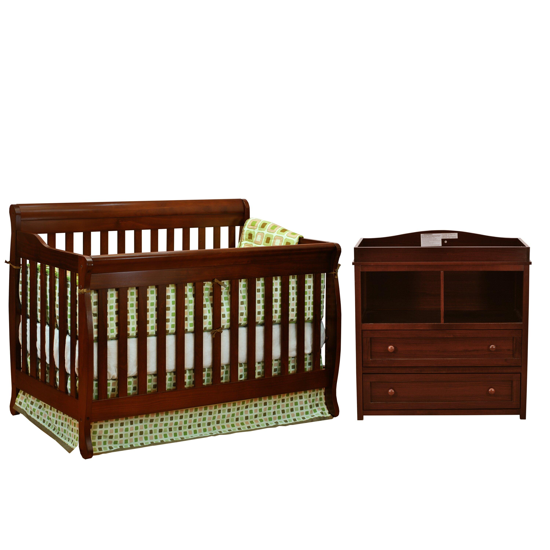 Afg International Furniture Alice 3 In 1 Convertible 2 Piece Crib Set Reviews Wayfair