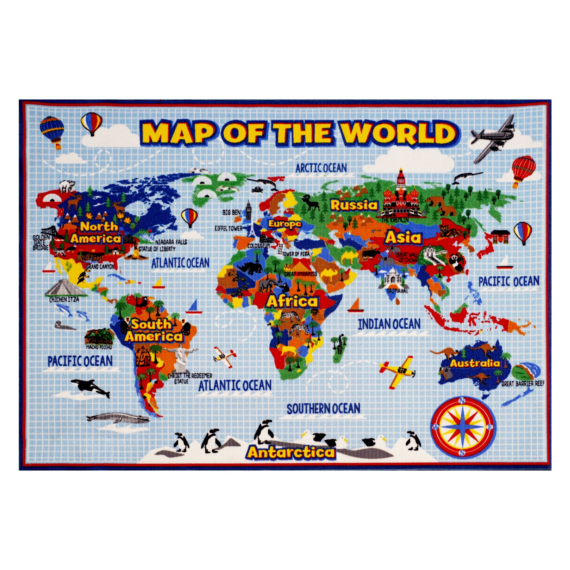 World Map Baby Rug: Smithsonian Rugs World Map Area Rug