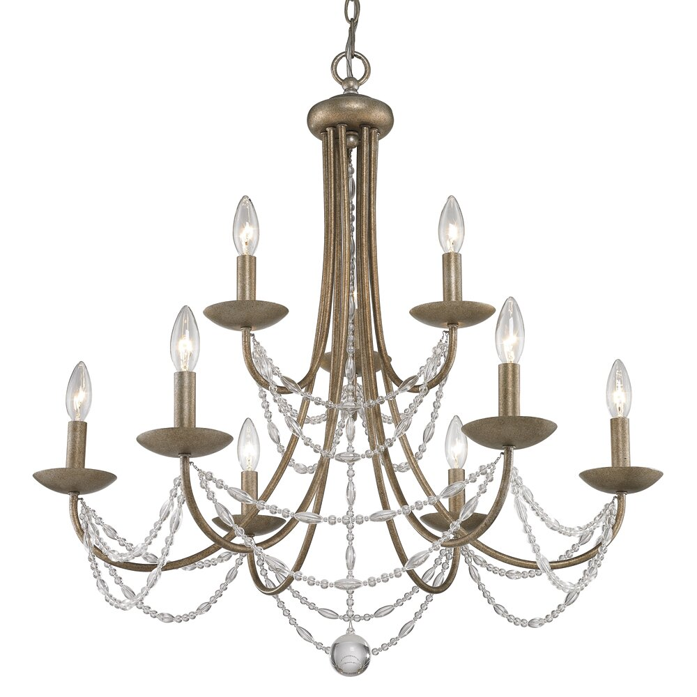 Wayfair Chandelier: Three Posts Atwood 9 Light Crystal Chandelier & Reviews